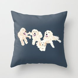 Kylie, tate, connor, and callie Throw Pillow