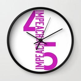 RESIST / IMPEACH 45 Wall Clock