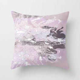 fluid bettle Throw Pillow