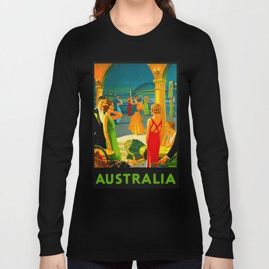 Vintage Sydney Australia Travel Long Sleeve T-shirt