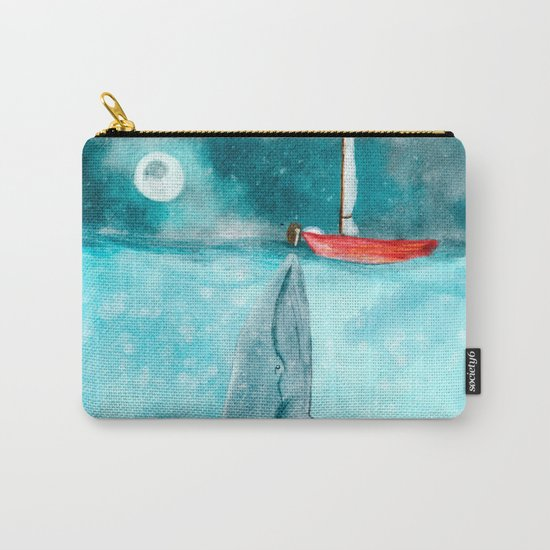 Whale illustration Carry-All Pouch