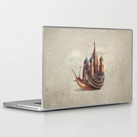 rock Laptop & iPad Skins featuring The Snail's Daydream by Eric Fan