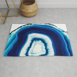Blue Agate Geode Slice Rug
