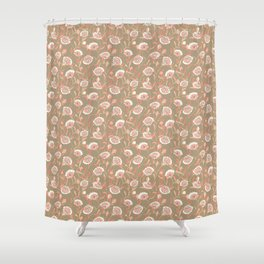 Coral and Copper vintage rose Shower Curtain