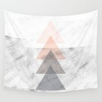 triangles Wall Tapestries featuring Triangles by Indiepeek | Marta