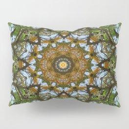 Yellow Tree Flower Kaleidoscope Art 5 Pillow Sham