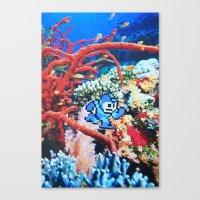 megaman Canvas Prints featuring Megaman by John Turck