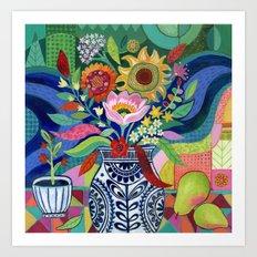 Late Summer Blooms Art Print