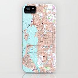 Vintage Map of Sarasota Florida (1973) iPhone Case