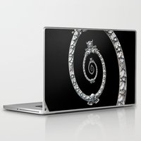 haunted mansion Laptop & iPad Skins featuring Haunted Mansion dröste by designoMatt