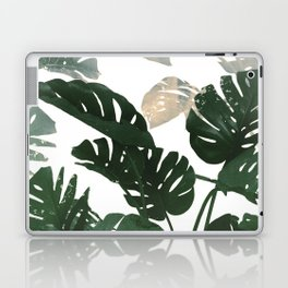 green leaves monstera Laptop & iPad Skin