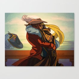 Kiss Up Me Hearties, Yo Ho! Canvas Print