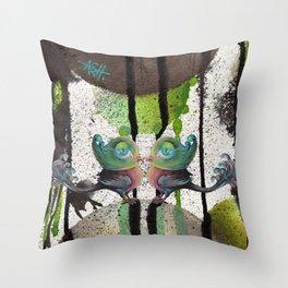 snotty pompbirds Throw Pillow