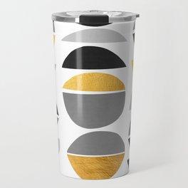 Modern pattern with gold IV Travel Mug