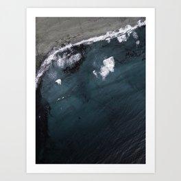 Unstad Beach Art Print