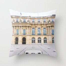 Buren's Columns, Le Palais Royal Courtyard, Paris, France Throw Pillow