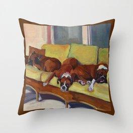 Boxer Dog Siesta Throw Pillow