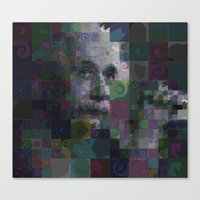 einstein Canvas Prints featuring Einstein by Artstiles