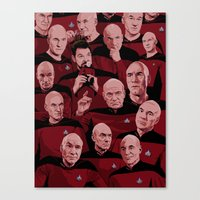 picard Canvas Prints featuring Picard Day by Brian J. Smith