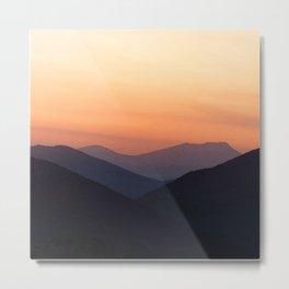 Watercolor Sunset, Estes Park 08 Metal Print