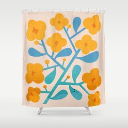 Abstraction_Floral_Blossom_02 Shower Curtain