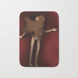 Doll red cloth hair long Bath Mat