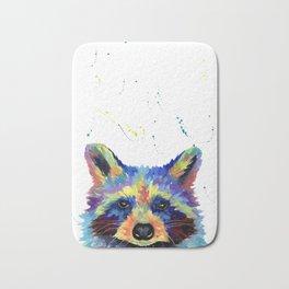Multi colour Raccoon Bath Mat