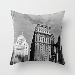 Sao Paulo Skyline - Anhangabau in black and white Throw Pillow