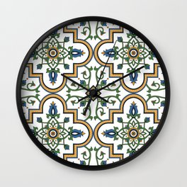 Spanish Tile Pattern – Andalusian ceramic from Seville Wall Clock