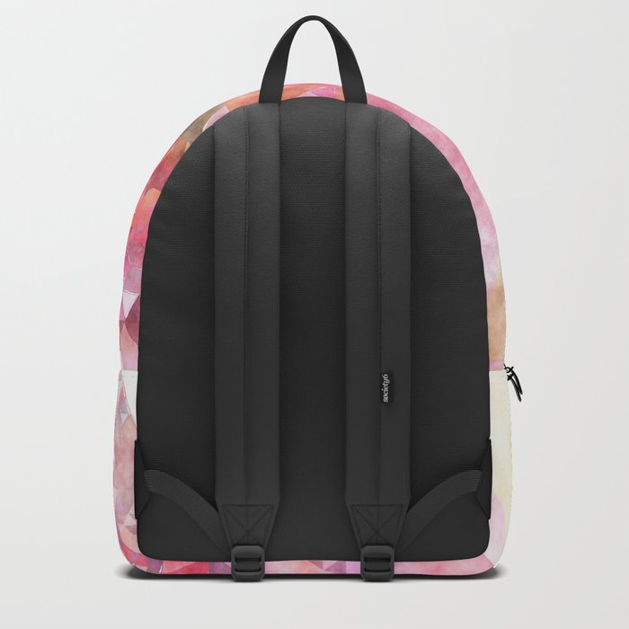 Pink triangles - Abstract elegant watercolor pattern Backpack