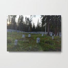 Wooden Headstones in old Alaskan Graveyard Metal Print