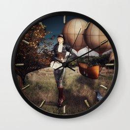 Flight of Fancy (Steampunk) Wall Clock