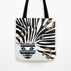 Leopard Zebra crossover Tote Bag
