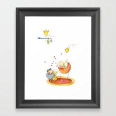 Baby surprise Framed Art Print