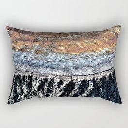 Tree Stump Circle Texture Rectangular Pillow