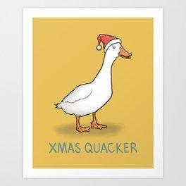 Christmas Quacker Art Print