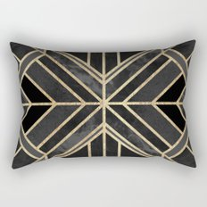 Geo Black Marble Dream Rectangular Pillow
