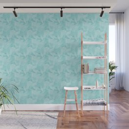 Pantone Limpet Shell Blue 13-4810 Abstract Geometrical Triangle Patterns 2 Wall Mural