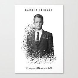 Barney Stinson - Legendary! Canvas Print