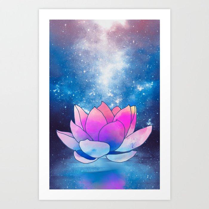 Magic lotus flower art print by vitag society6 magic lotus flower art print mightylinksfo
