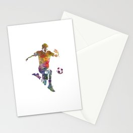 man soccer football player 09 Stationery Cards