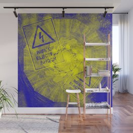 Abstract risk of electric shock Wall Mural