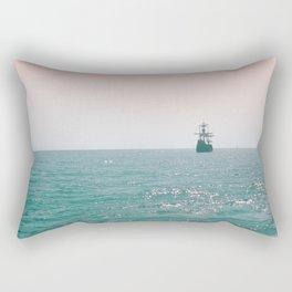 Pirate ship at sea Rectangular Pillow