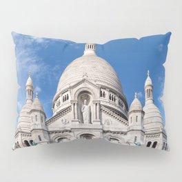 Sacre Coeur on Montmartre hill Pillow Sham