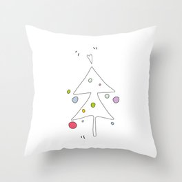 Cute Graphic Christmas Tree Throw Pillow