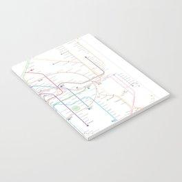 Germany Berlin Metro Bus U-bahn S-bahn map Notebook