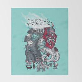 Dark Circusbot Throw Blanket