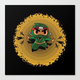 Little Ninja Canvas Print