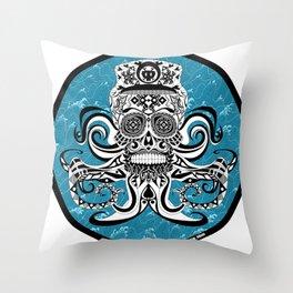 Crazy Pirate Ecopop Throw Pillow