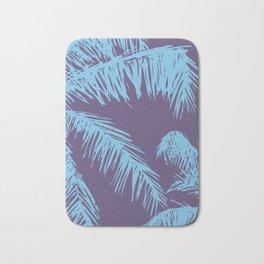 Ultra Violet Palm Print Bath Mat